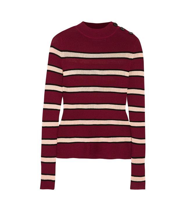 Étoile Isabel Marant Devona striped stretch-knit sweater