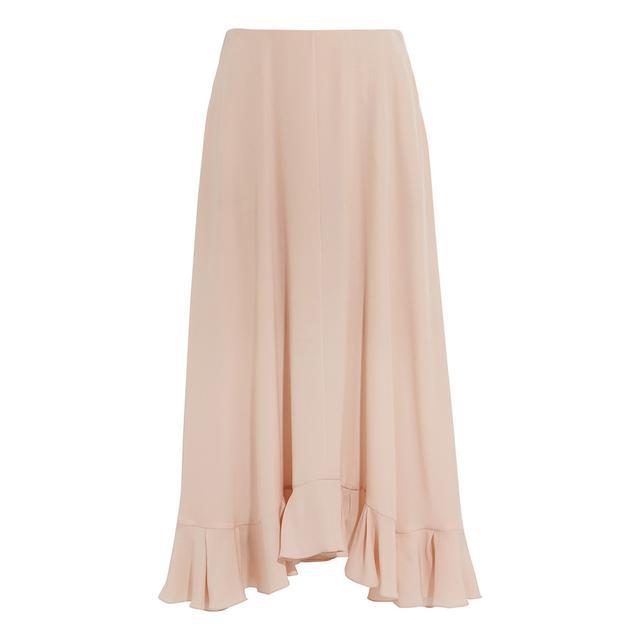 Chloé Ruffled Silk-Crepe Skirt