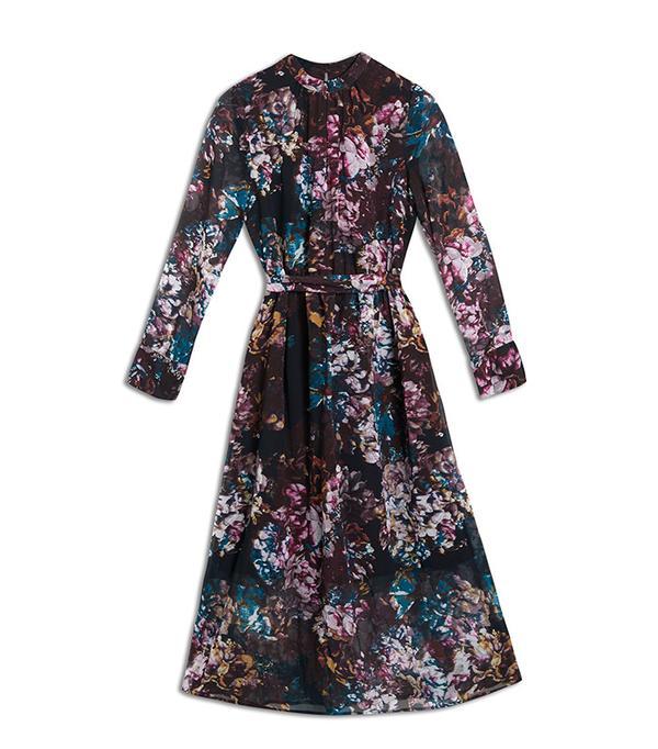 Who What Wear Printed Midi Dress