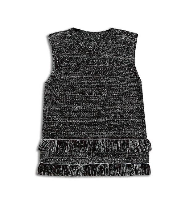Who What Wear Sleeveless Fringe Tank Sweater