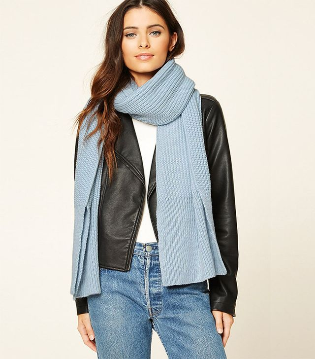 Forever 21 Baby Blue Scarf