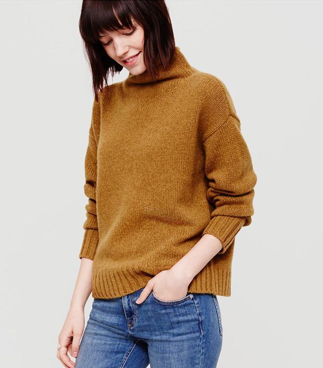 Lou & Grey Cashmere Mockneck Sweater