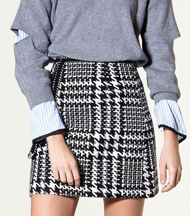 Storets Xiara Houndstooth Check Skirt