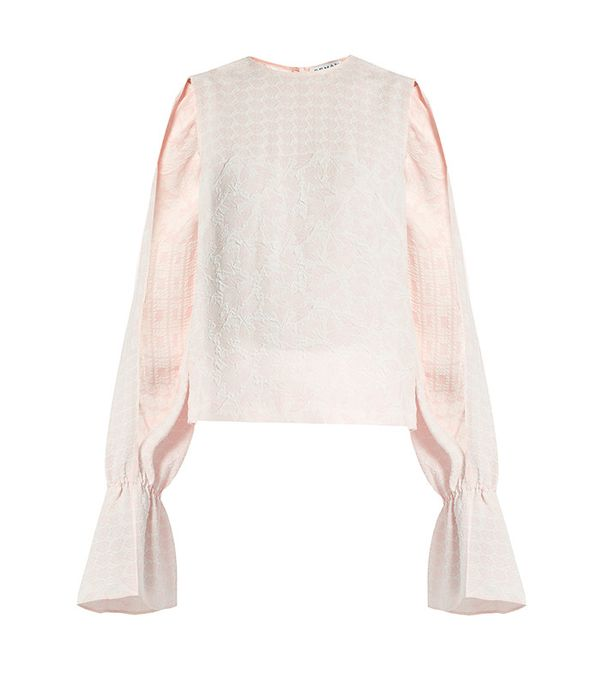 Osman Petra Round-Neck Long-Sleeved Jacquard Top