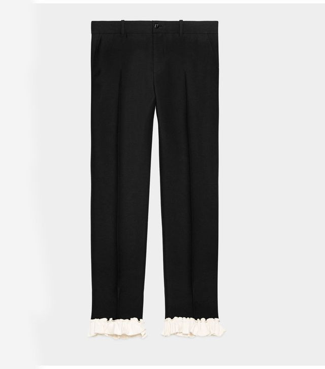 Gucci frill trousers