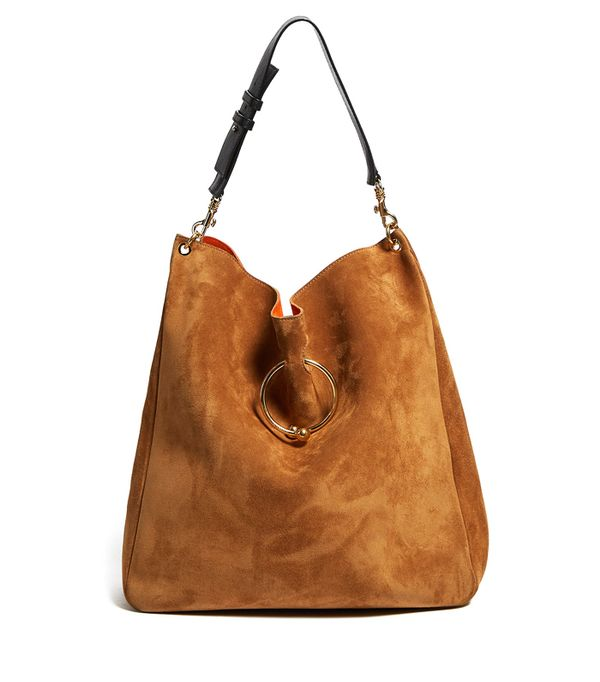 J.W.Anderson Pierce Hobo Suede and Leather Shoulder Bag