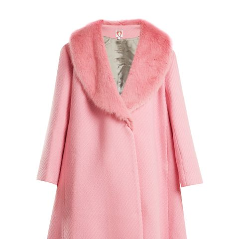 Elspeth Faux-Fur Trimmed Wool-Blend Coat