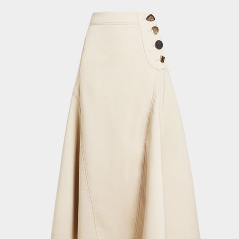 Alana Cotton-Blend Flare Midi Skirt