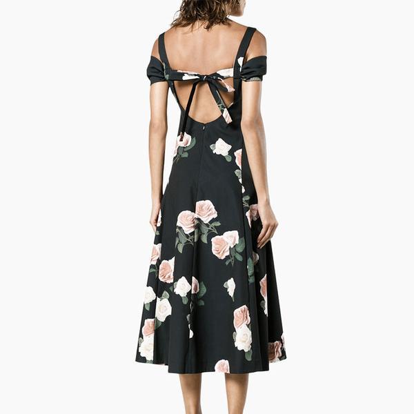 Rejina Pyo Cold Shoulder Midi Dress