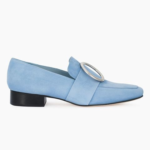 Baby Blue Suede Harput Loafers