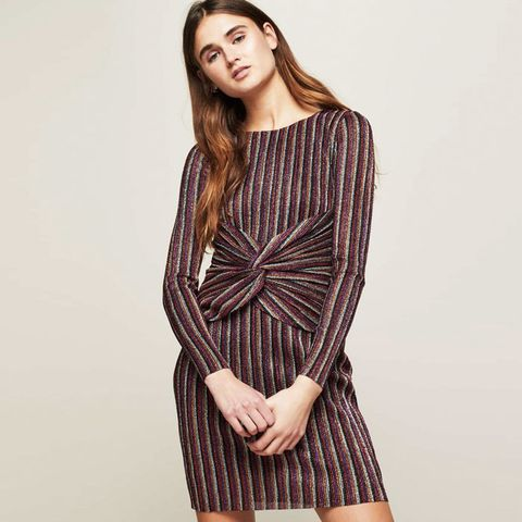 Striped Mini Shift Dress