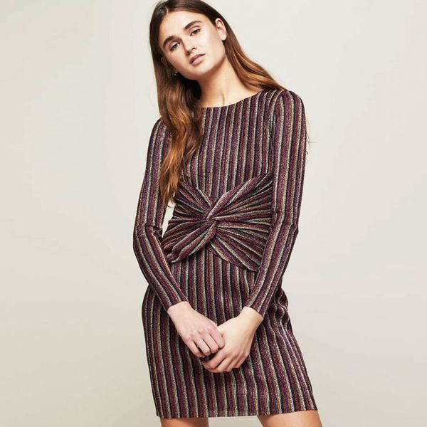 Miss Selfridge Striped Mini Shift Dress