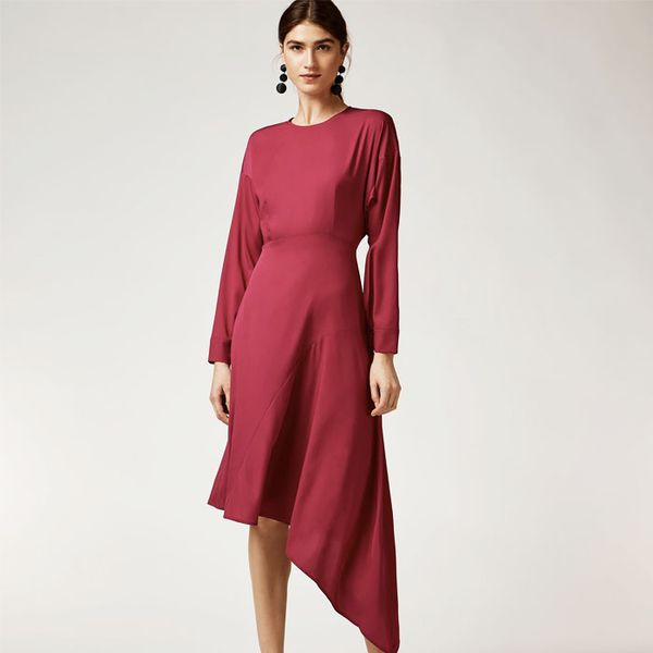 Warehouse Asymetric Midi Dress