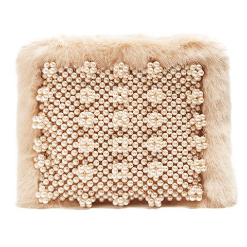 Graham Faux Pearl-Embellished Pouch