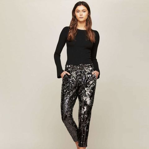 Premium Black Sequin Trousers
