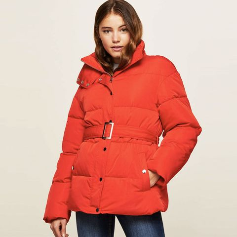 Belted Oversized Quilted Puffer Jacket