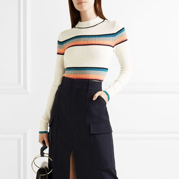 Tome Striped Turtleneck Sweater