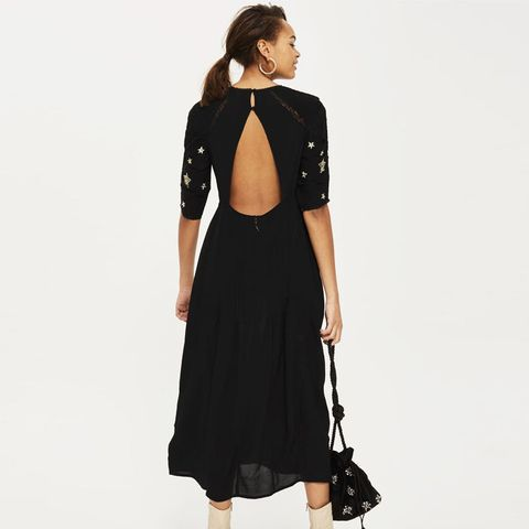 Star Emrboidered Midi Dress