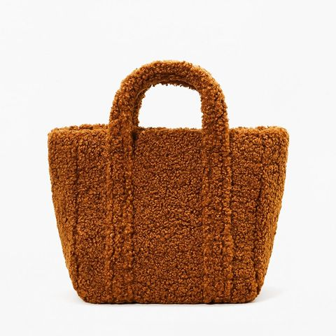 Faux-Shearling Bag