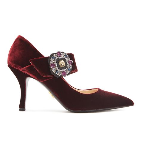 Crystal Mary-Jane Pumps