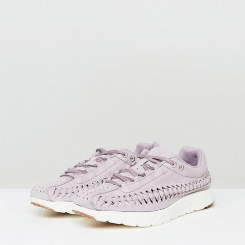 Mayfly Woven Trainers In Lilac