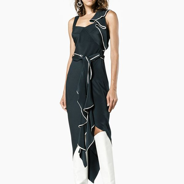 Kitx Asymmetric Draped Cutout Dress