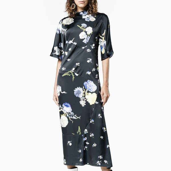 Acne Studios Dilona Floral Print Midi Dress
