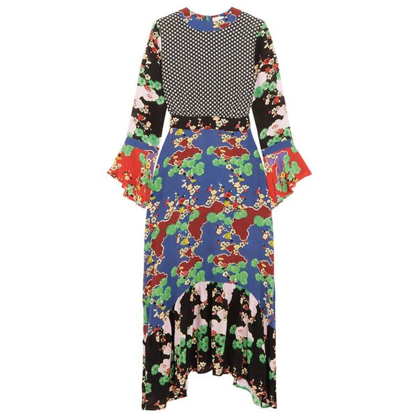 Rixo London Chrissy Patchwork Midi Dress