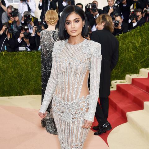 Kylie Jenner celebrity style: Balmain met gala