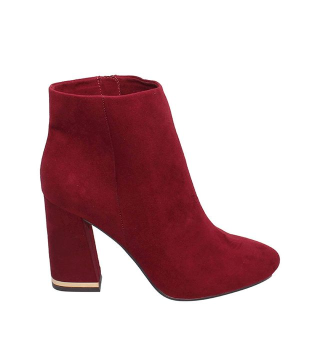 Who What Wear Cora Microsuede Booties