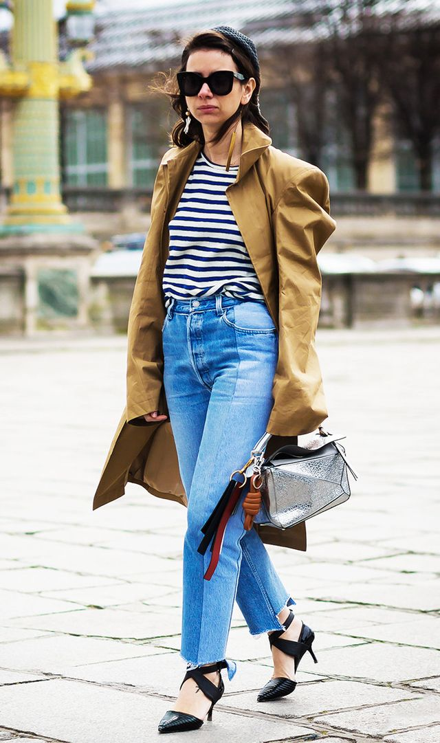 It's a general rule of thumb that if you're on the shorter side, ankle straps are a no-no because they cut off your legs. However, a stylish alternative is a pair of heels with crisscross straps...