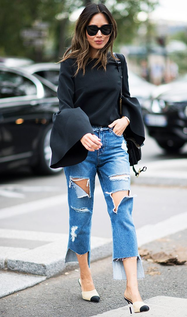 Similar to a pair of nude pumps, mules are effective at lengtheningyour legs because they blend in with your skin. Try a pointed pair to really amp things up.