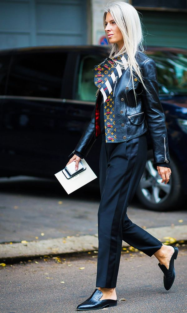 Style Notes: Everyone has a pair of smart black trousers in their wardrobe. Wear with a leather jacket and you're good to go. Sometimes it's just a case of mixing up a classic workwear item with a...