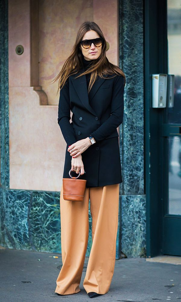 Style Notes:Still struggling? Turn to classic colour-blocking. For the top, opt for something like a black jacket and roll neck, and then below, go for a brightly coloured pair of...
