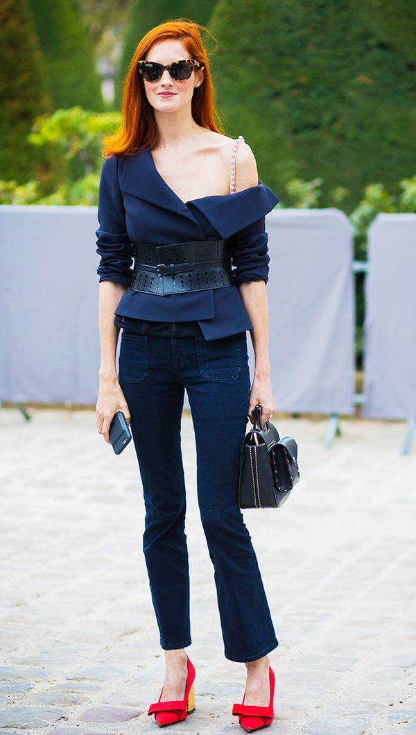 Style Notes: Put on your favourite bra and your favourite top, and expose one shoulder. It's as simple as that.
