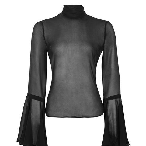 Sheer Circle Sleeve Top by Boutique