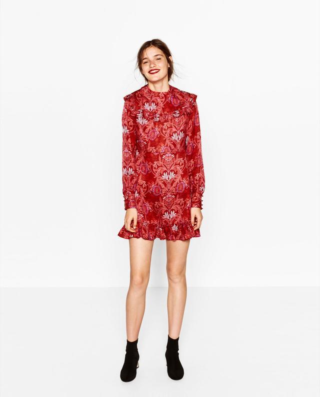 Zara Jacquard Mini Dress