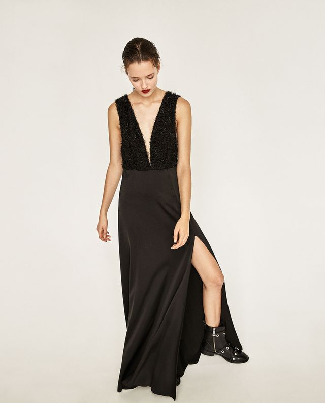 Zara Long Fringed Dress