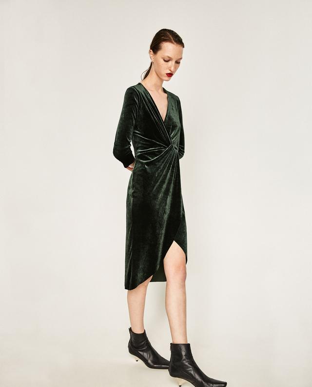 Zara Crossover elvet Dress