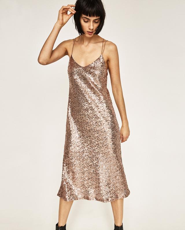 Zara Long Sequin Dress