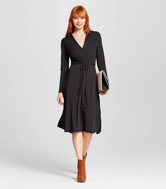 Who What Wear Women's Cross-Over Midi Dress