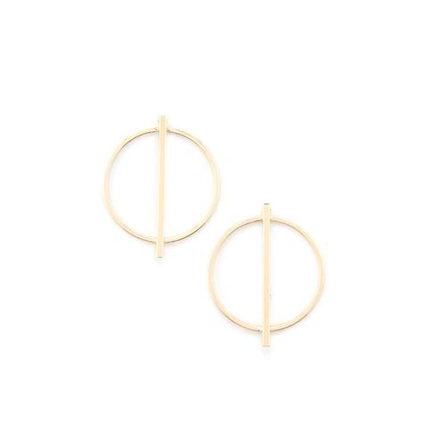 Bar Pendant Stud Earrings