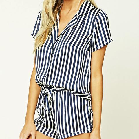 Stripe Shirt PJ Set