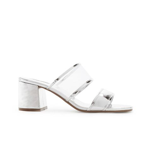 Metallic Mesh Sandals