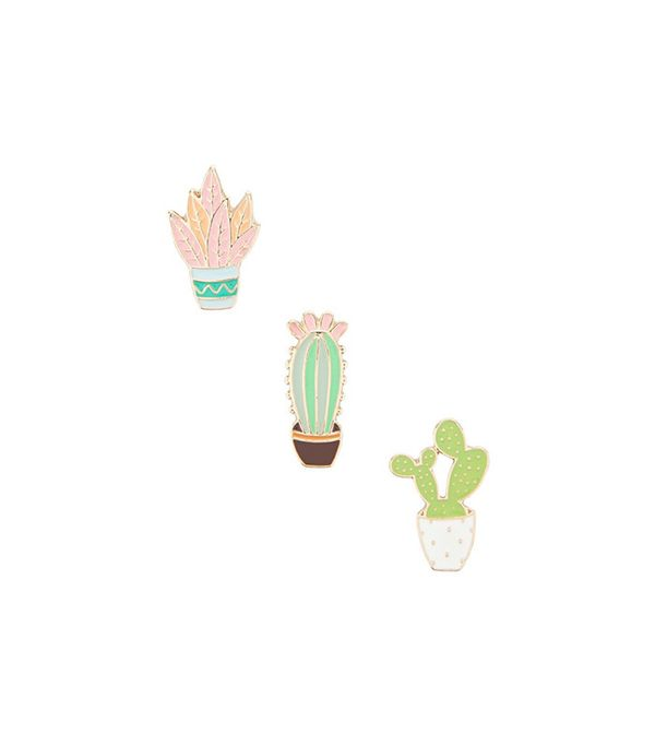 Forever 21 Cactus Pin Set