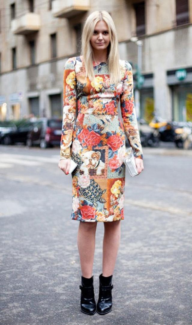 Jessica Stein of Tuula Vintage wearing midi floral dress