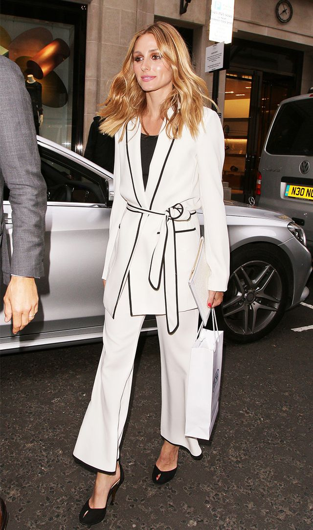 Olivia Palermo at Rimowa store launch party in London, England wearing Zara