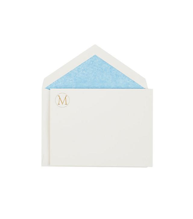 """Connor """"M"""" Monogram Notecard Set"""