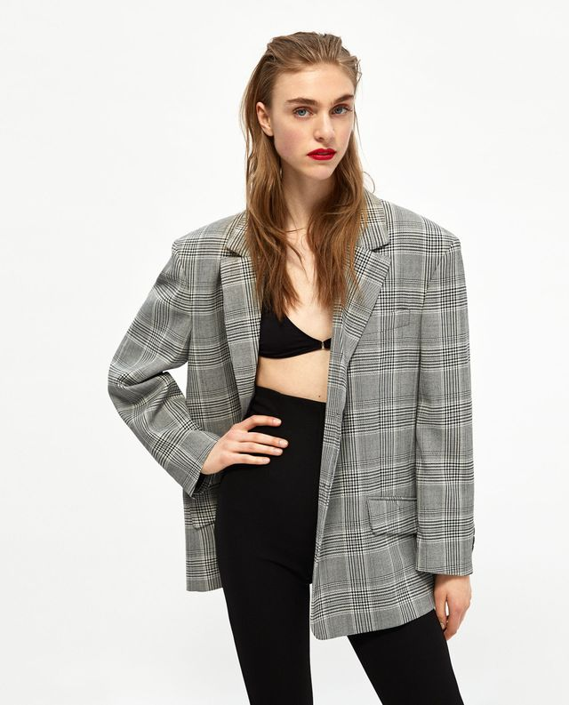 Zara Oversized Check Jacket