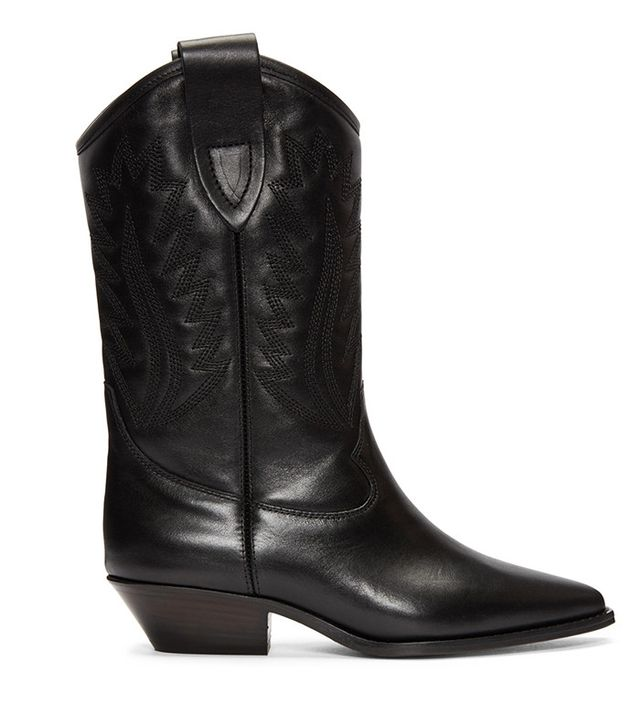 Isabel Marant Black Dallin Cowboy Boots